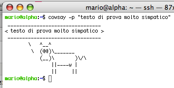 cowsay p